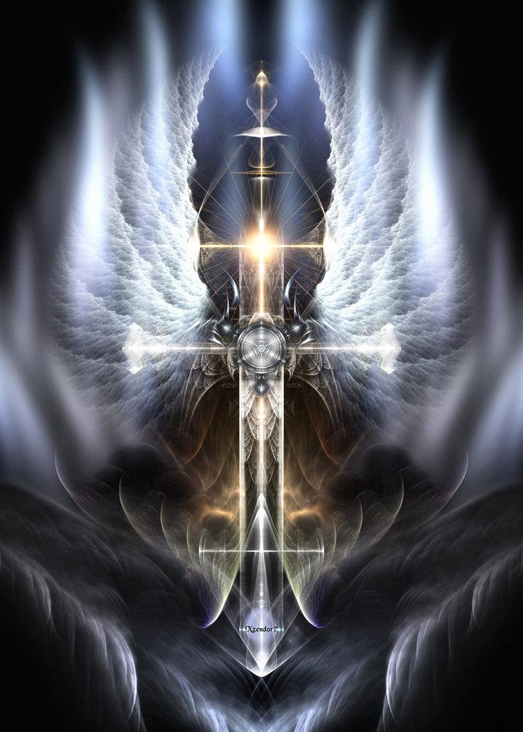 Heavenly Angel Wings Cross by xzendor7 755x1057