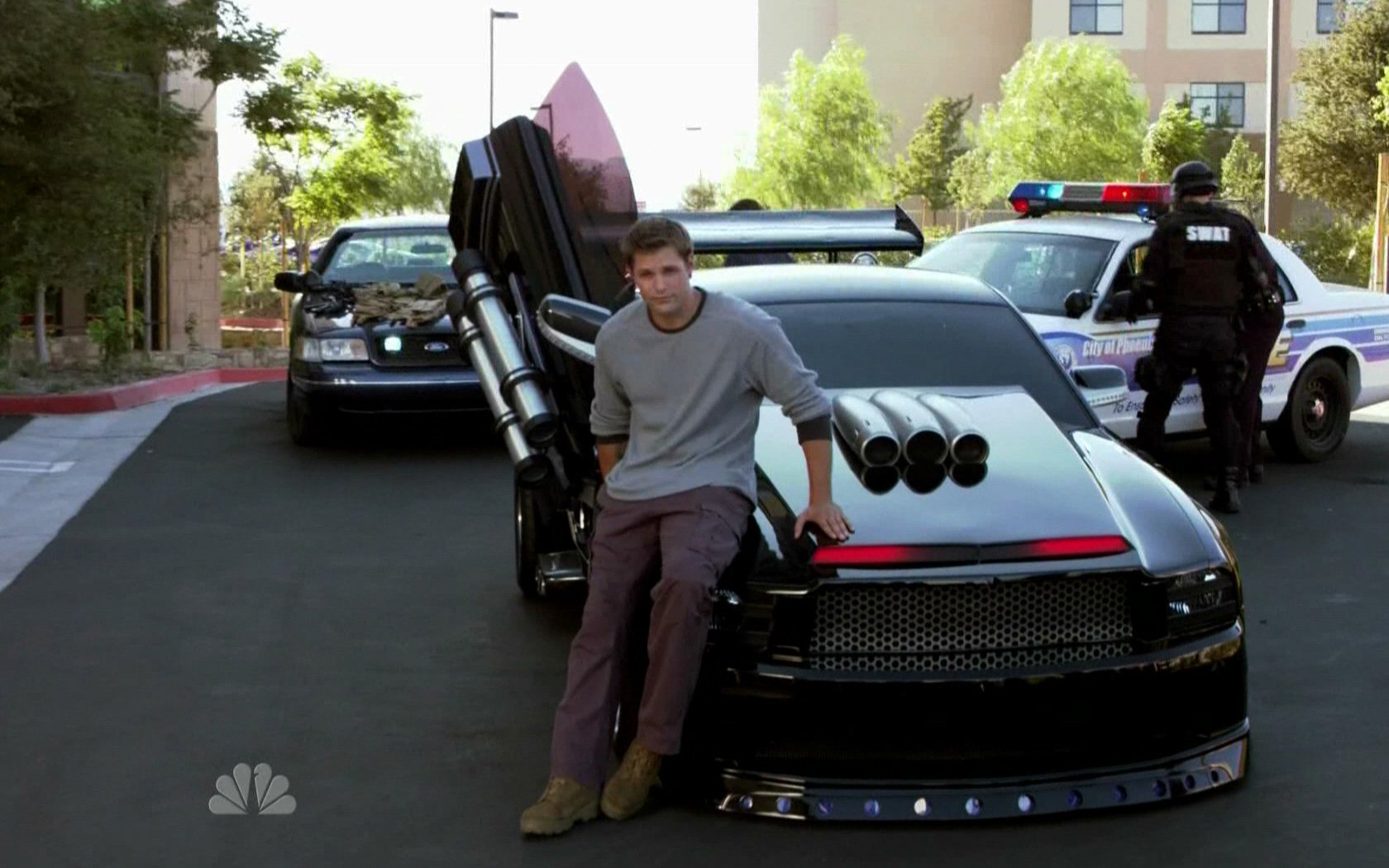 cars vehicles Ford Mustang TV series Knight Rider bodykit wallpaper 1680x1050