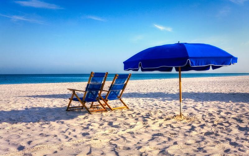 Beach Chair Wallpaper: Summer Beach Chairs Desktop Wallpaper