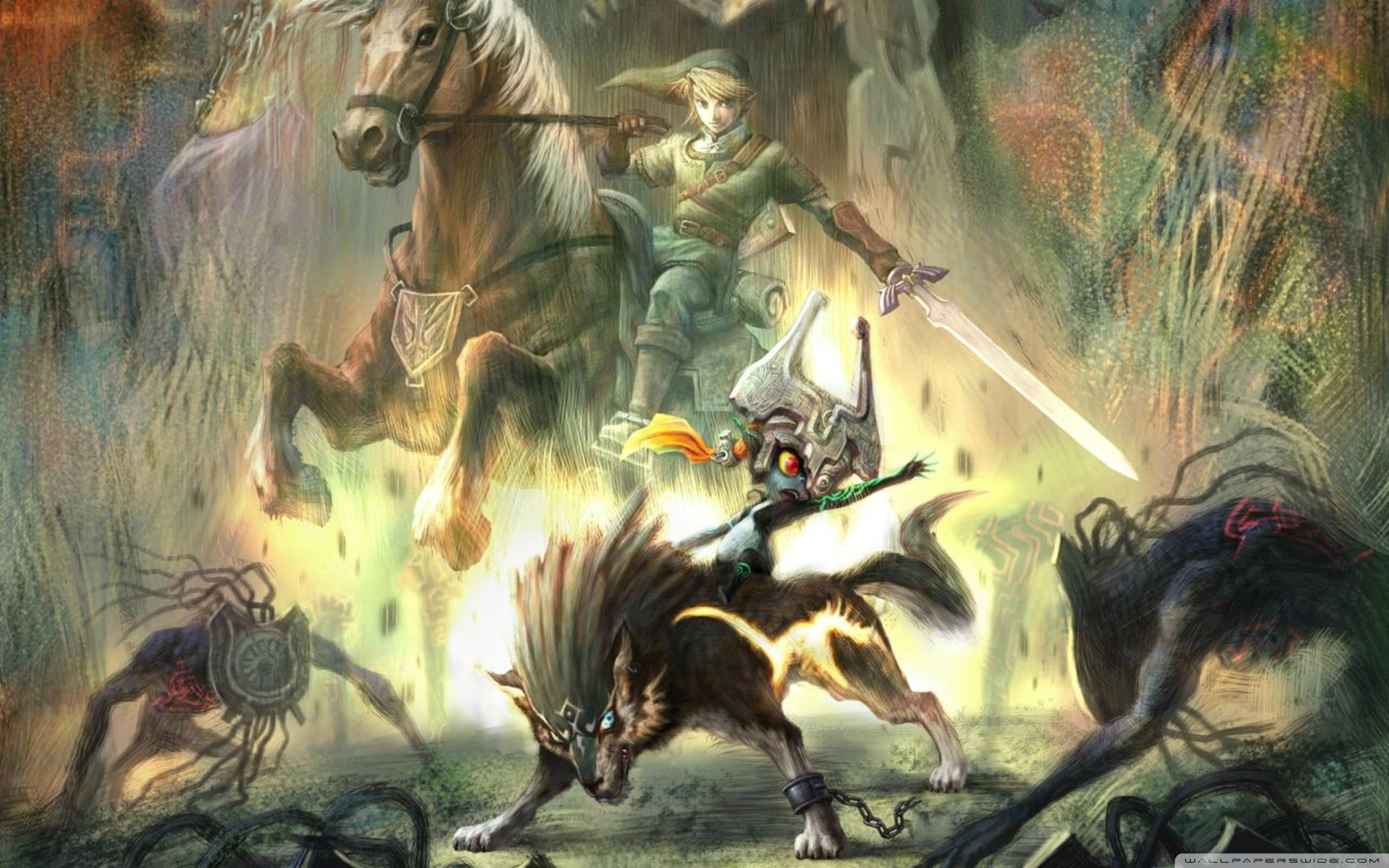 Zelda Twilight Princess Characters HD Wallpaper Background Images 2560x1600