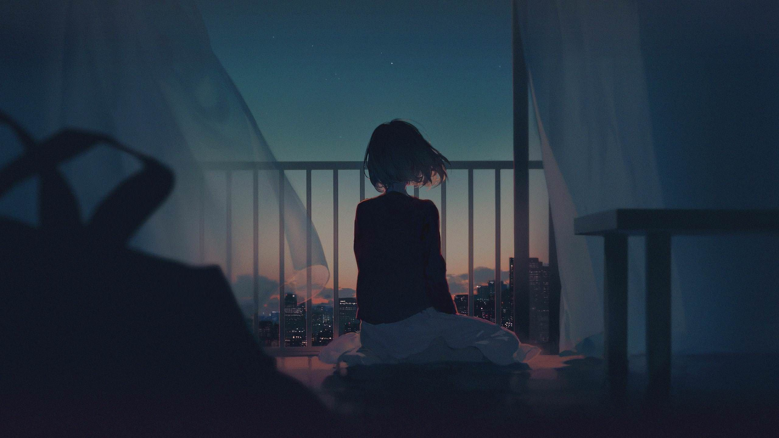 Alone Sad Anime Wallpapers   Top Alone Sad Anime Backgrounds 2560x1440