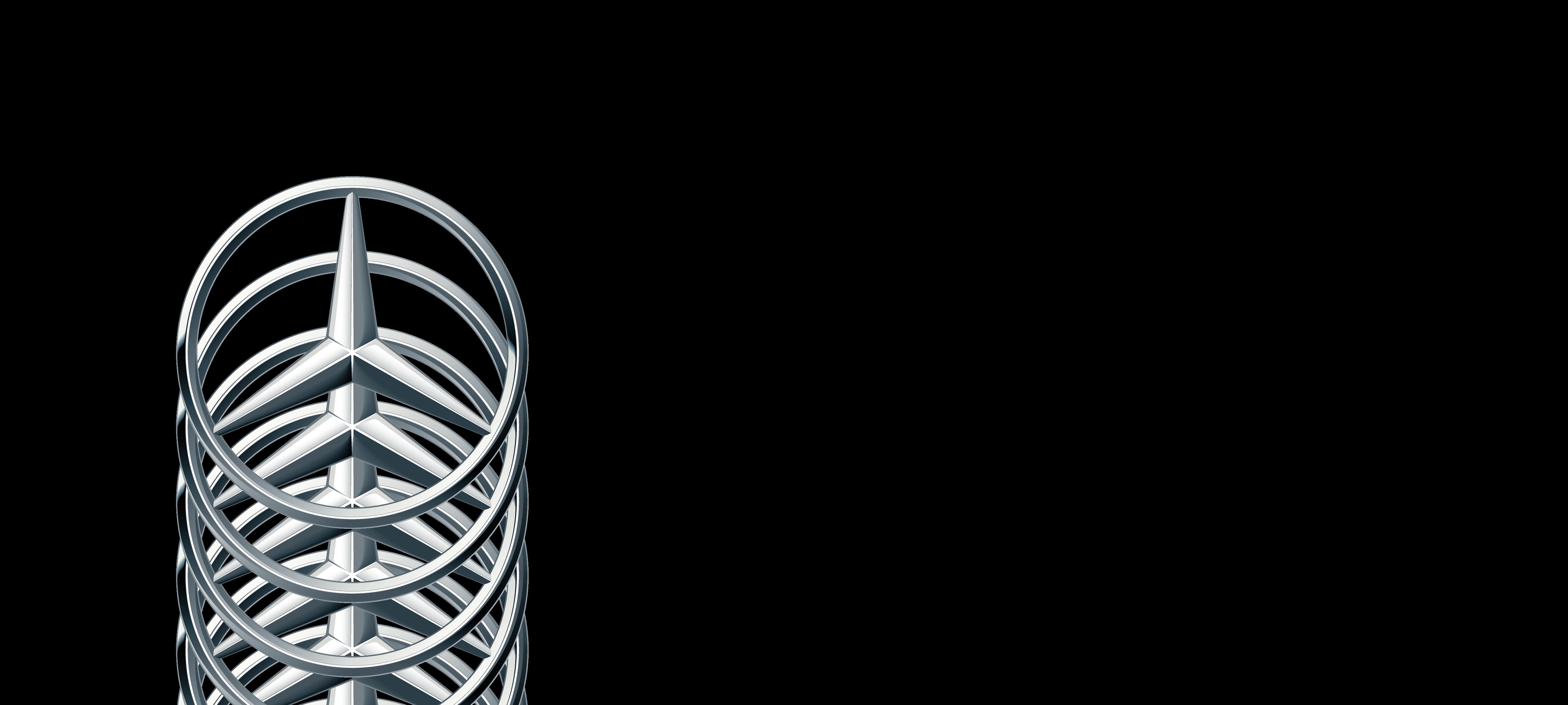 Mercedes Logo Transparent Background   image 462 5256x2362