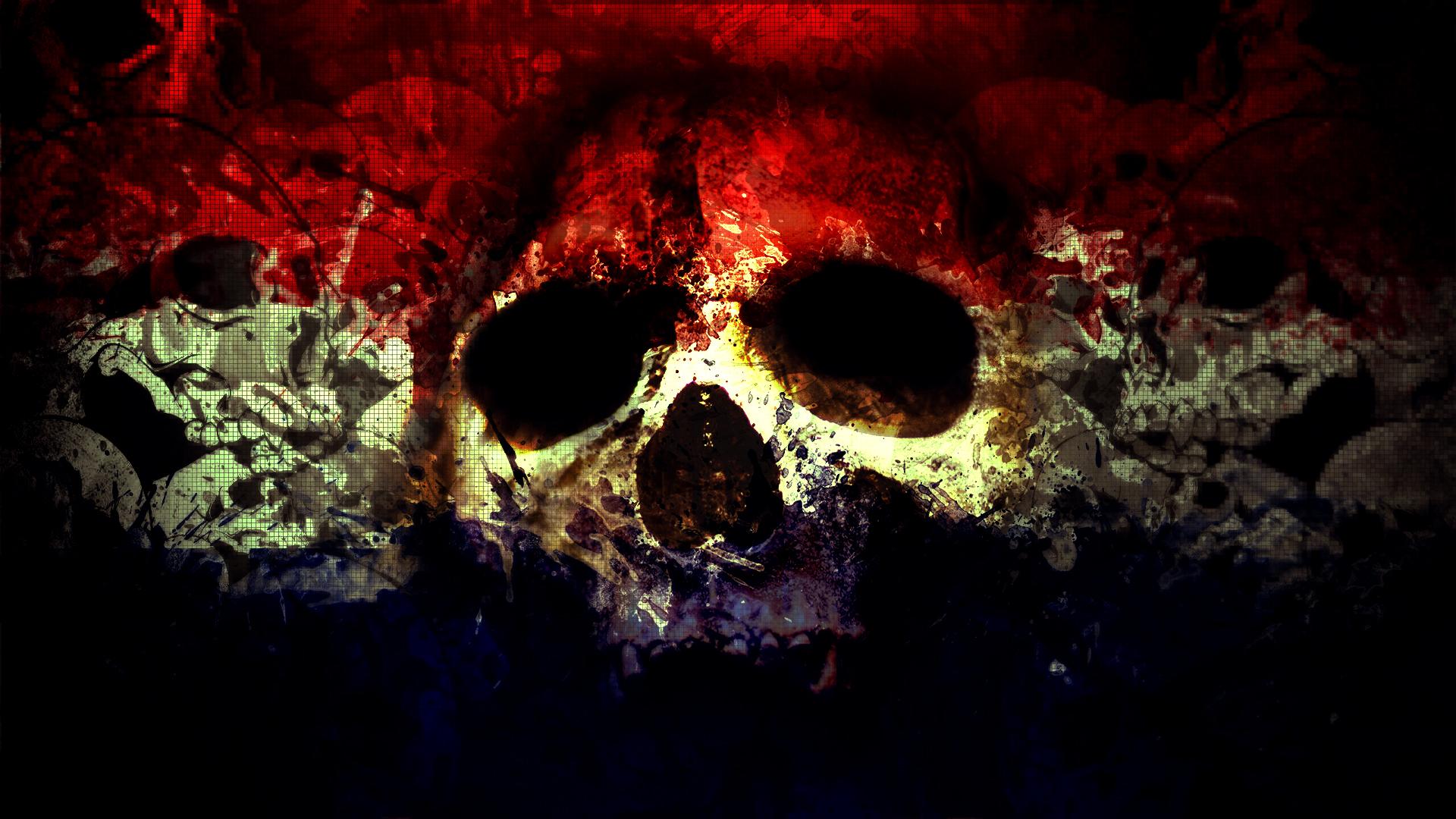 Skull Wallpaper Art Background 1920x1080