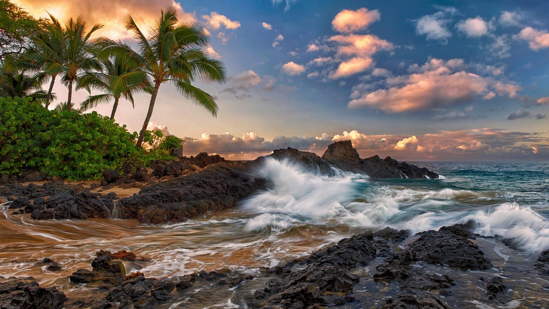 Download US State Hawaii Maui Island Ocaen Rocks Wallpaper Search 1920x1080
