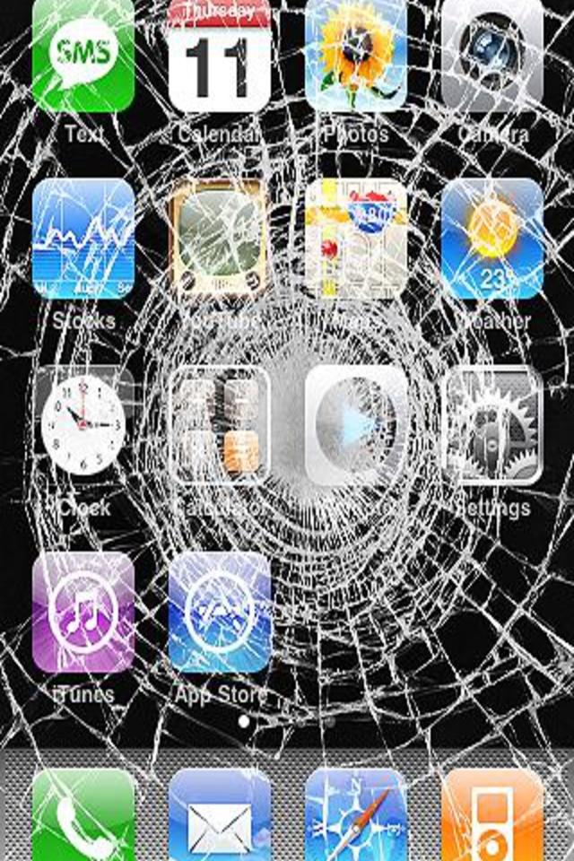 cracked phone screen wallpaper app