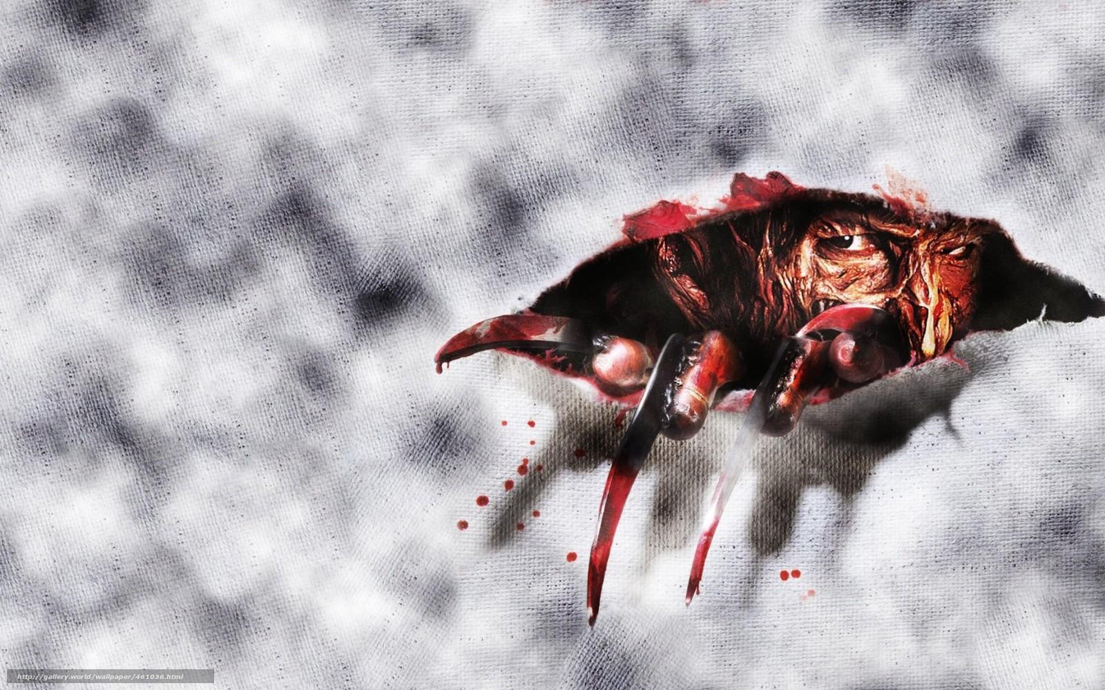 Download wallpaper Freddy Krueger Nightmare on Elm Street Horror 1600x1000