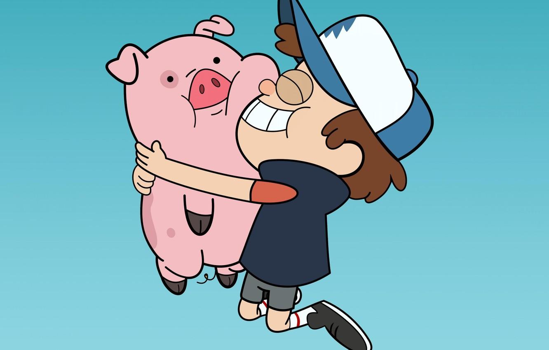 Photo Wallpaper Cartoon Cartoon Pig Dipper Waddles   Gravity 1332x850