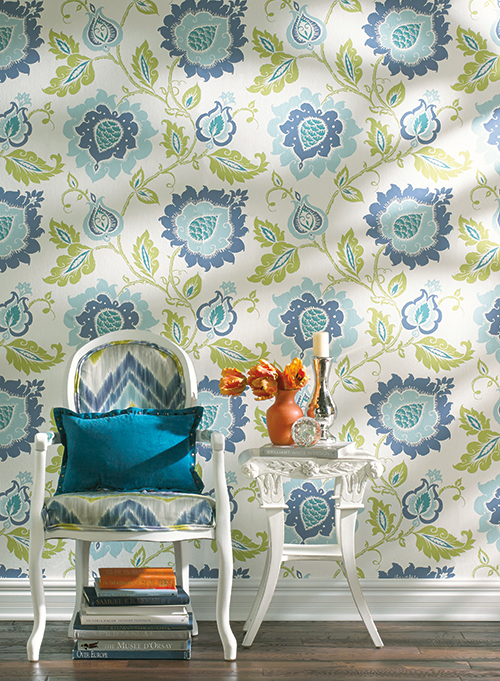 bold and beautiful wallpaper trends for 2015 Hirshfields Color 500x681