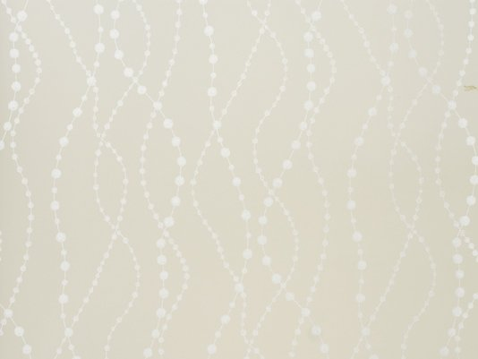 Wallpaper Off white wallpaper with wavy bead design in silver 534x401