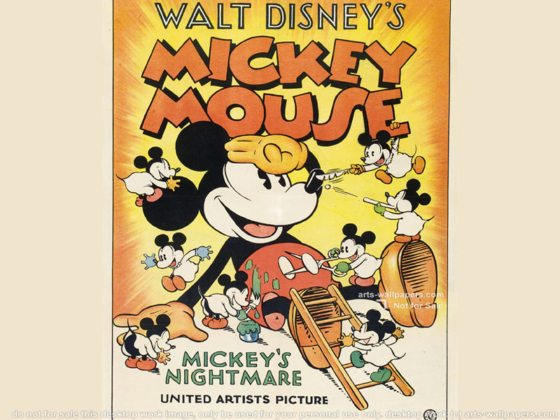 Vintage mickey mouse wallpaper wallpapersafari - Mickey mouse retro wallpaper ...