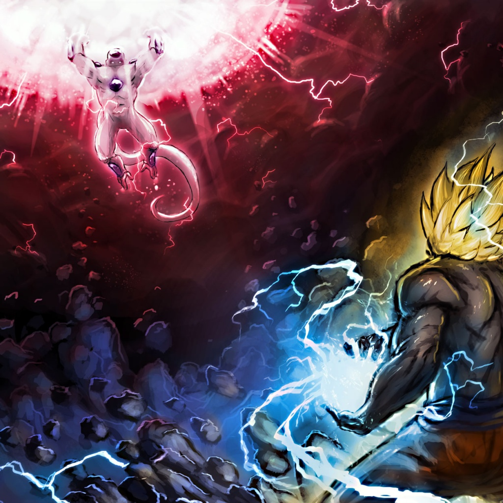 Goku Vs Frieza Hd Wallpaper Full HD Wallpapers 1024x1024