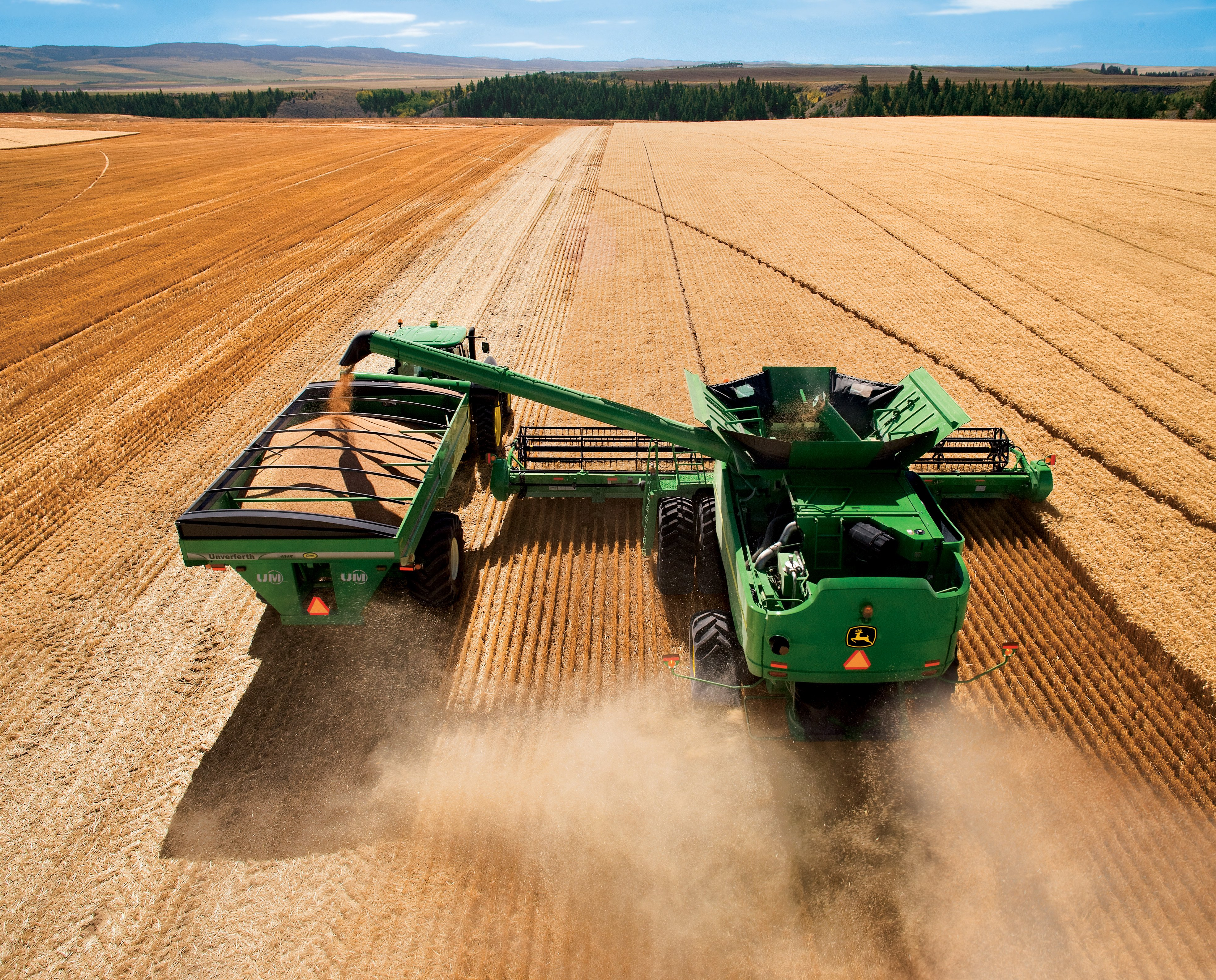 john Deere Tractor Farm Industrial Farming 1jdeere 3933x3171