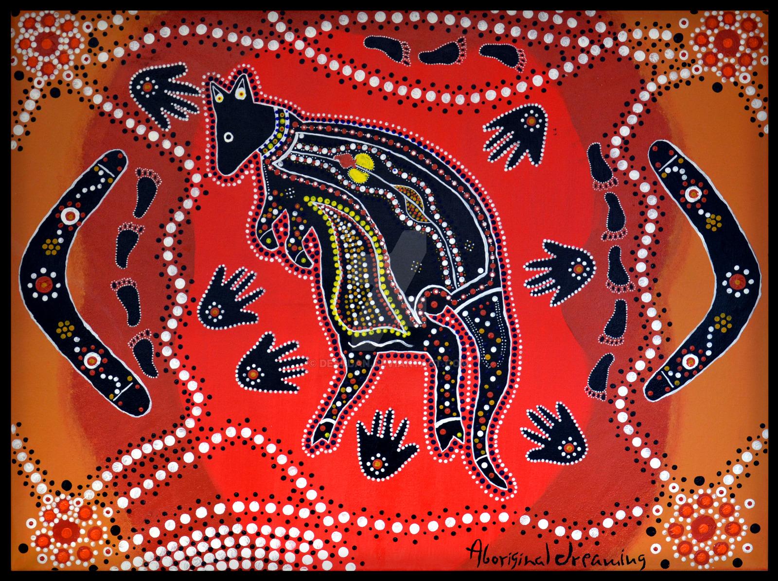 Aboriginal Art Print 1 by DesuDan 1600x1196