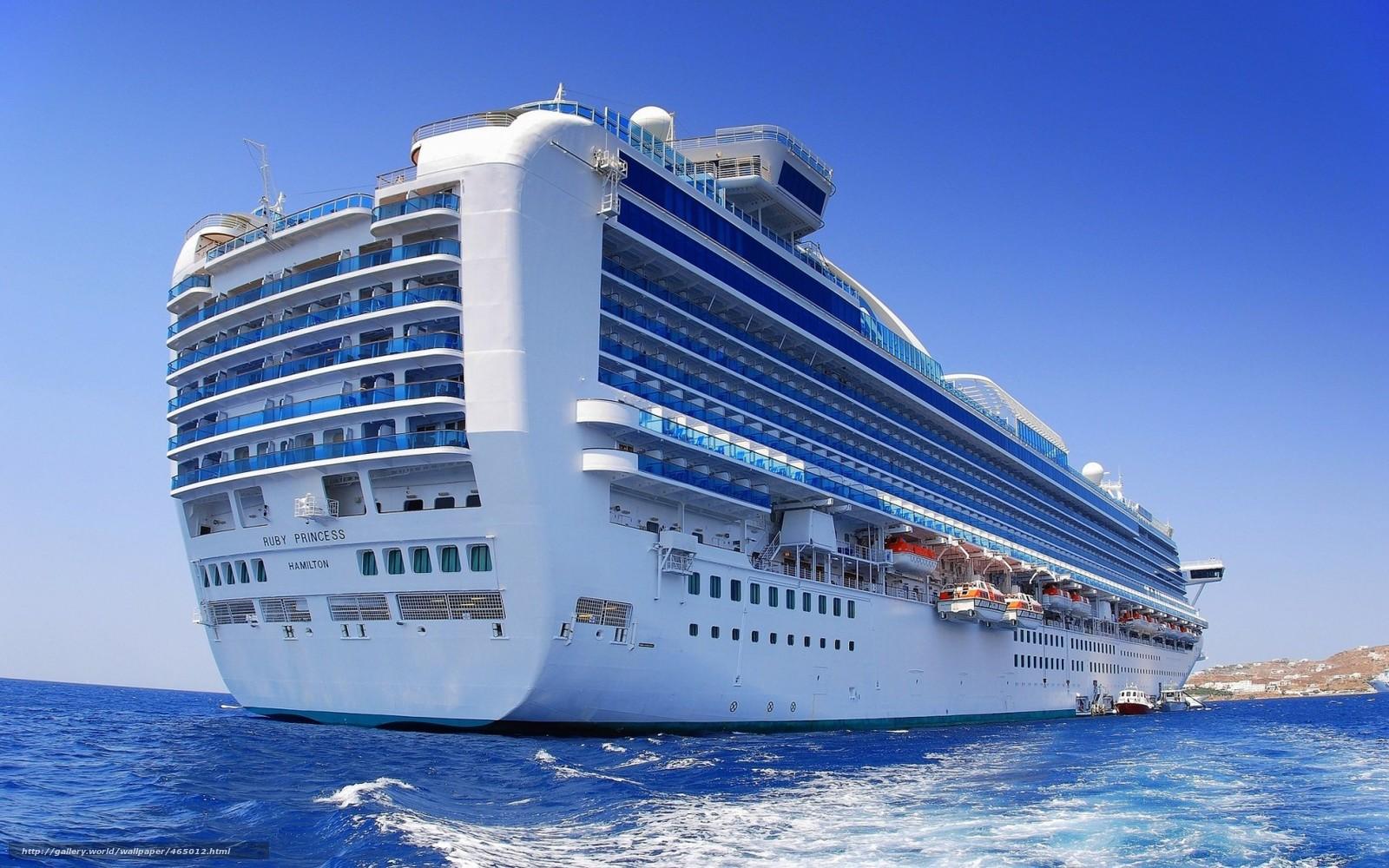 Download wallpaper ship Cruise Ship ocean desktop wallpaper in 1600x1000