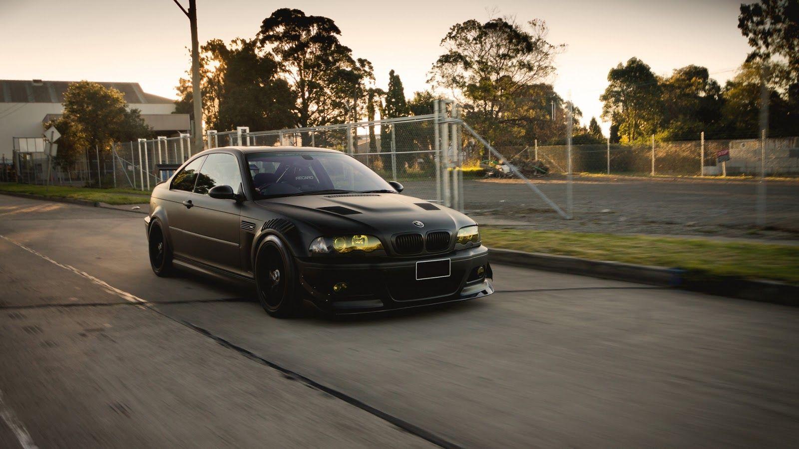 BMW Black M3 E46 Tuning   Full HD 1080p Cars Wallpapers Desktop 1600x900
