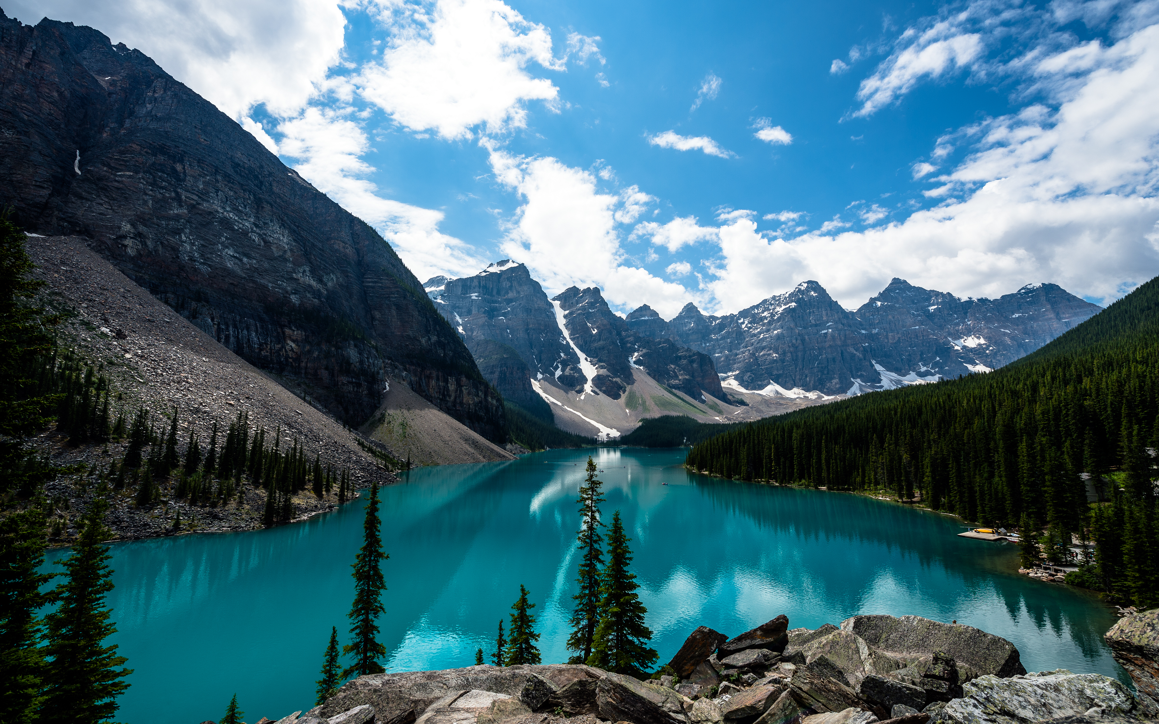 Lake in Banff National Park Alberta Canada wallpapers and images 3840x2400