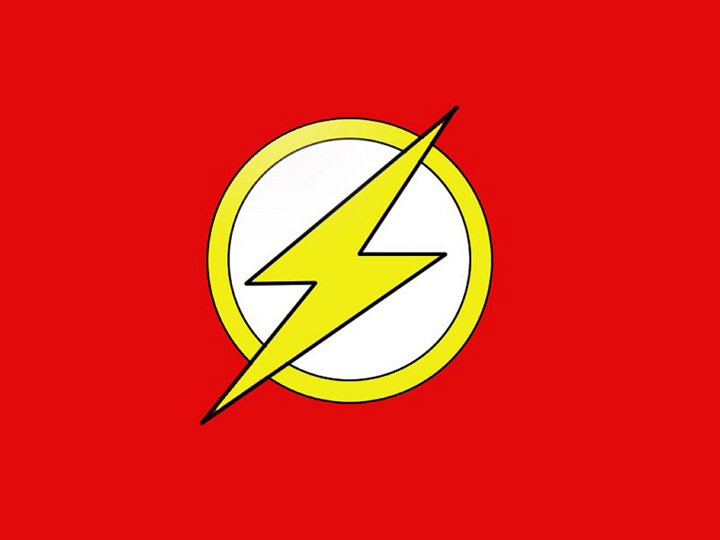 Flash logo   DC Comics Wallpaper 251206 1024x768