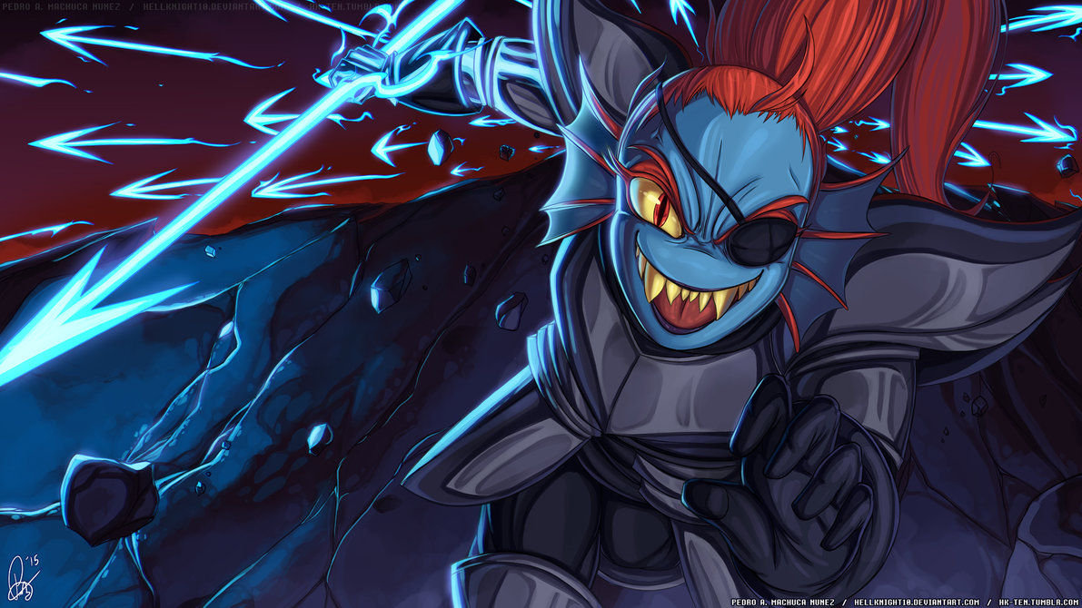 UNDERTALE   Royal Spear Undyne by Hellknight10 1191x670