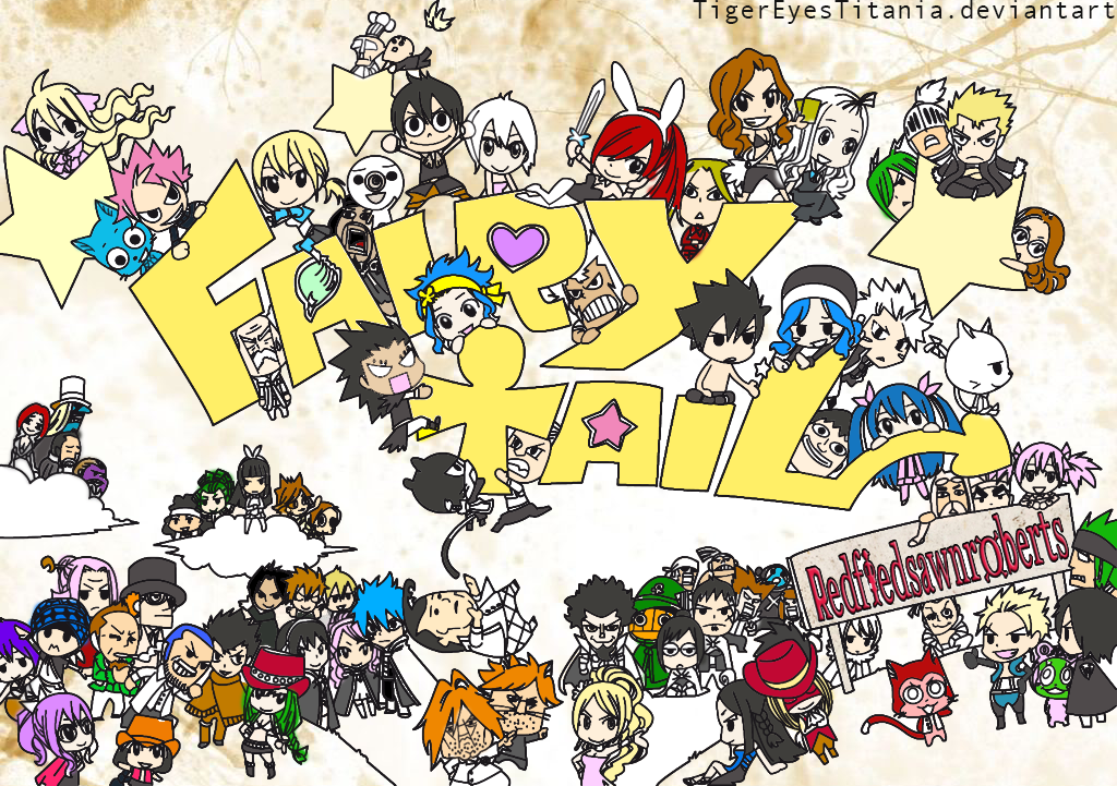 Complete Chibi Fairy Tail by ZahraDesu 1024x721