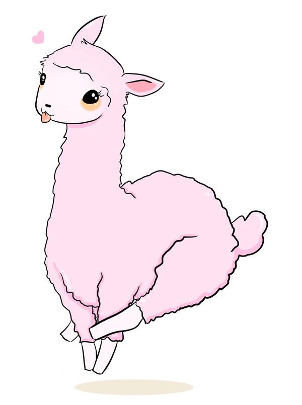 Pink Llama I wants it by deedala 600x805