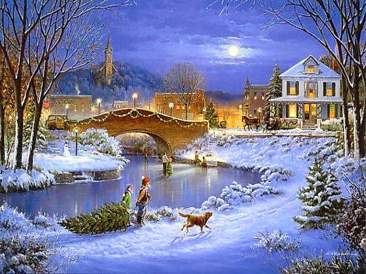 Country Christmas Background Wallpaper.46 Country Christmas Wallpapers On Wallpapersafari