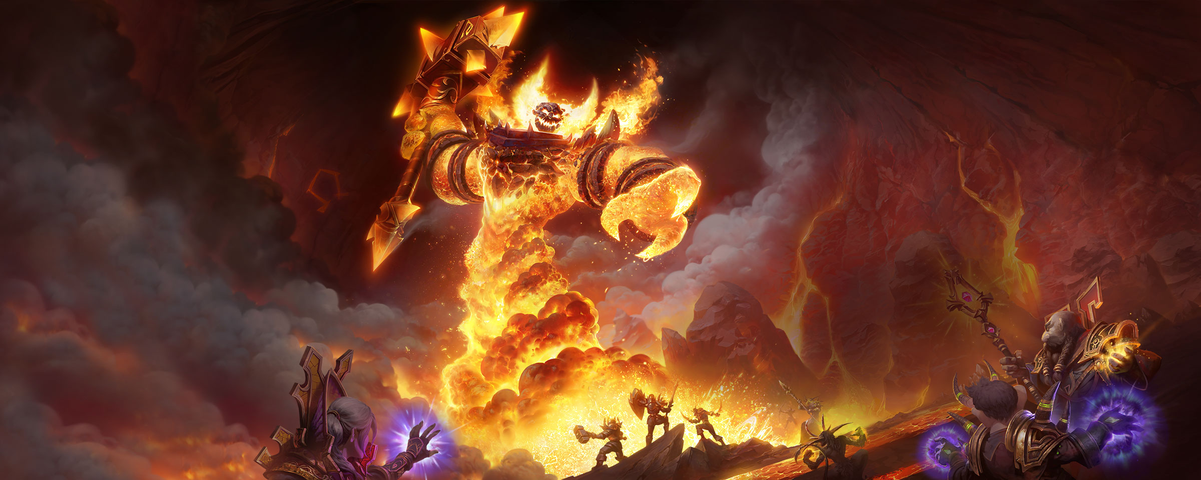 Heres the Classic WoW Ragnaros Background wow 2400x960