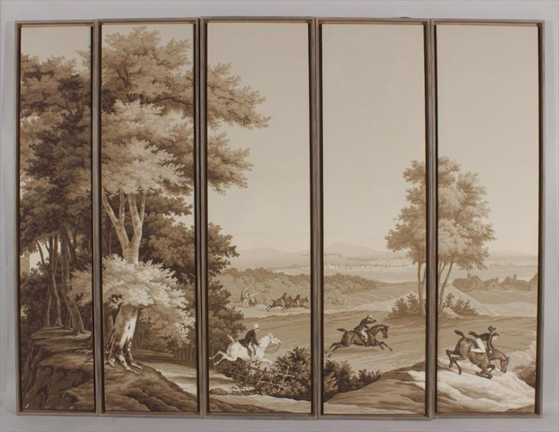 Grisaille wallpaper panels reproductions wallpapersafari - Grisaille wallpaper ...
