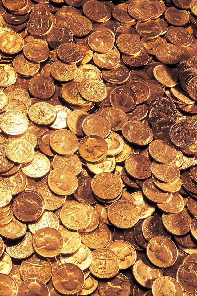 Gold Coins Wallpaper IPhone Wallpapers 640x960