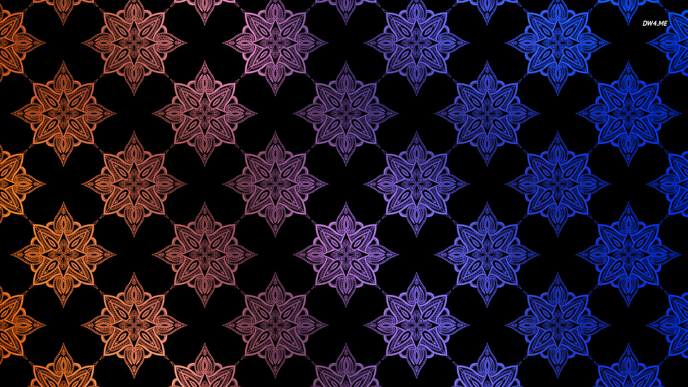Orange and blue pattern wallpaper   Vector wallpapers   872 1366x768