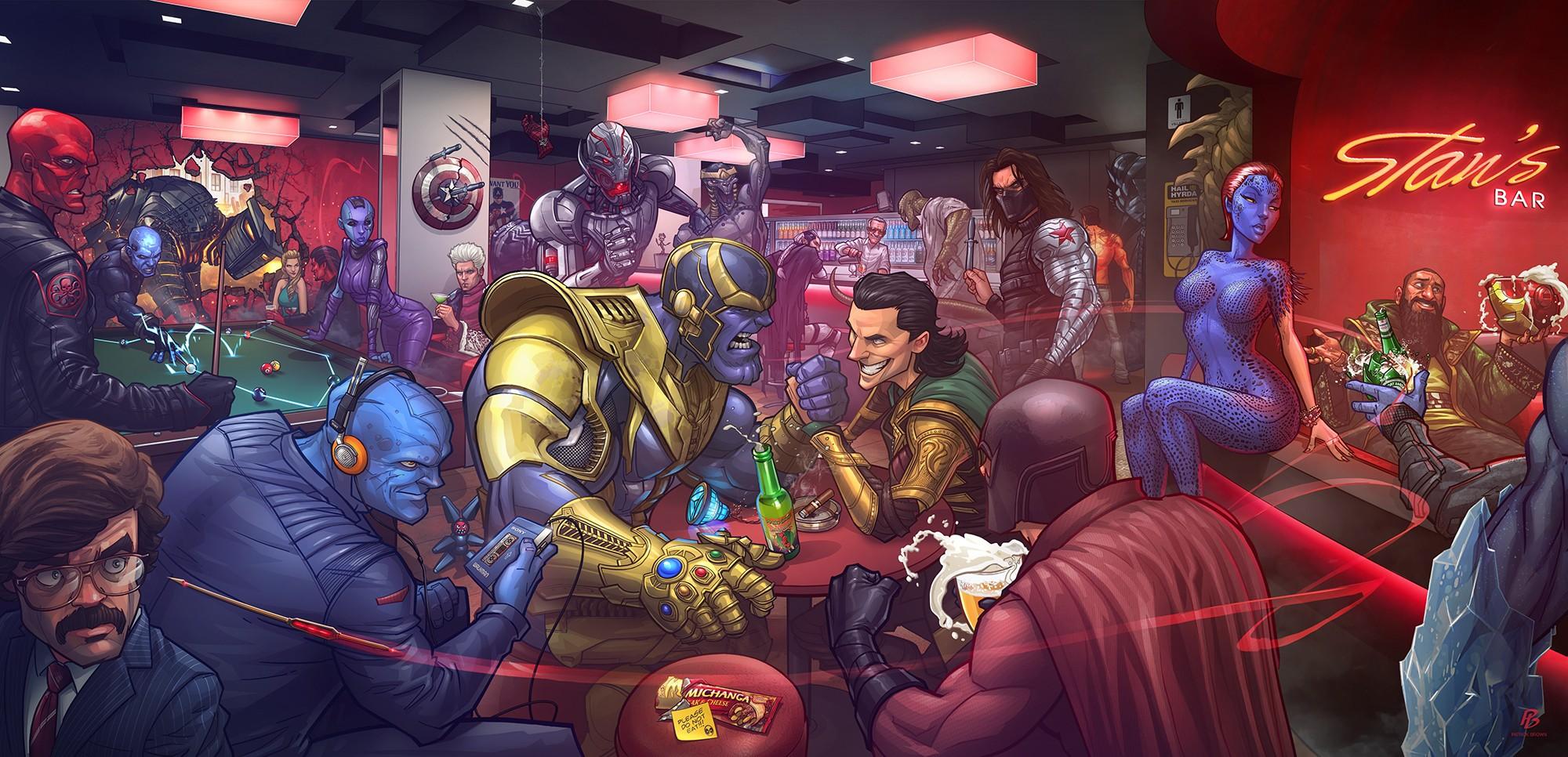 Anime X Men Comics Loki The Mandarin Bucky Barnes 2000x966