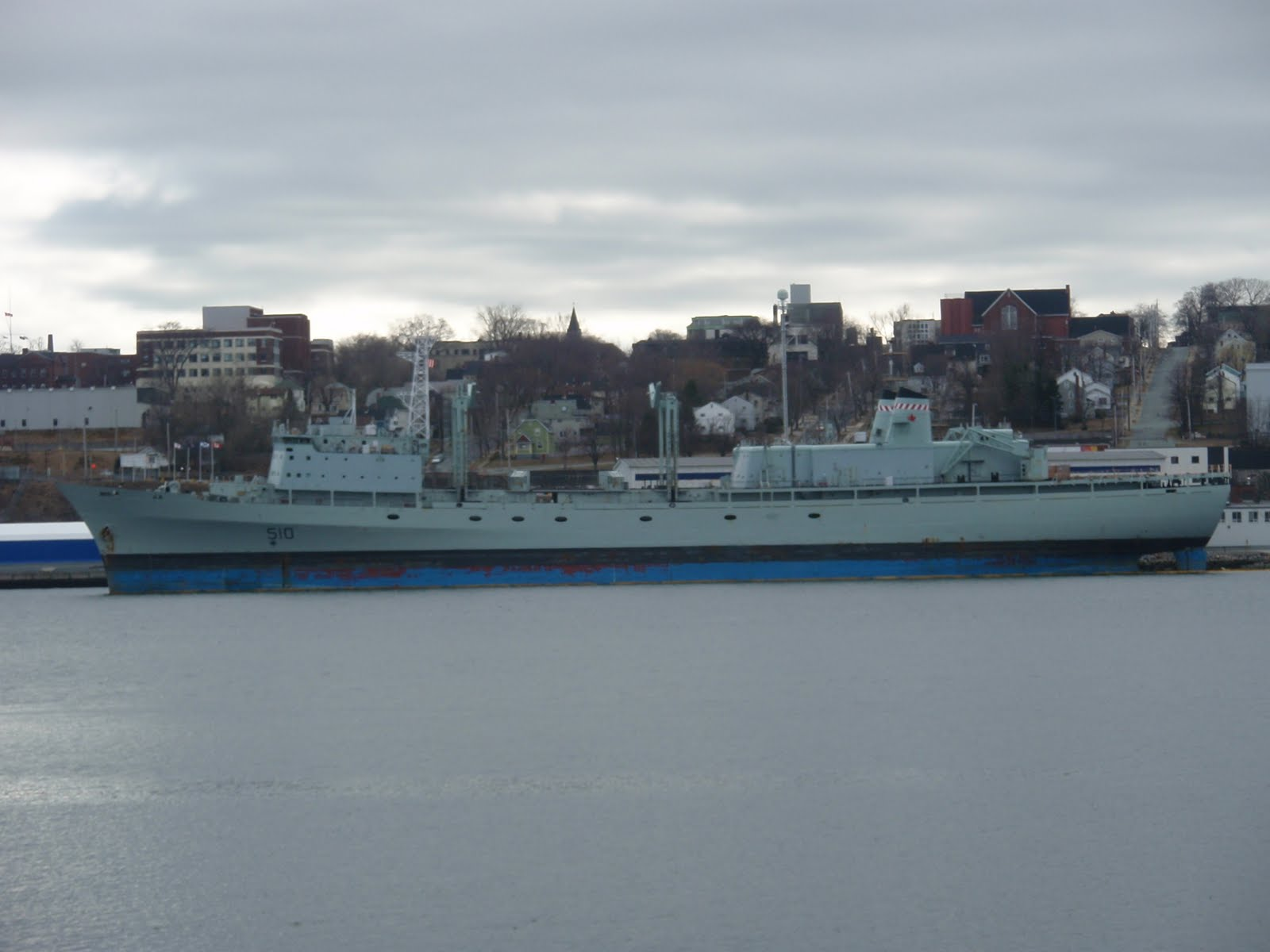 HMCS Preserver Also tied up at Halifax Shipyards Machine Shop Warf for 1600x1200