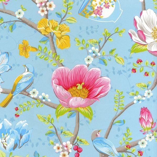 Home Pip Studio III wallpaper Chinese Garden Light Blue 341002 600x600