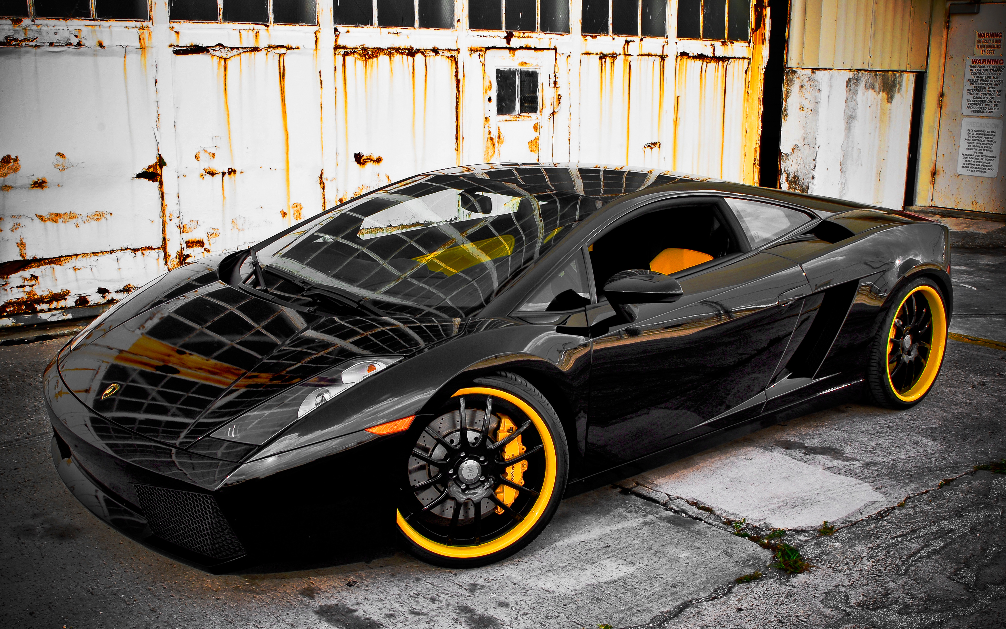 360 Forged Black Lamborghini Gallardo Wallpaper | HD Car Wallpapers