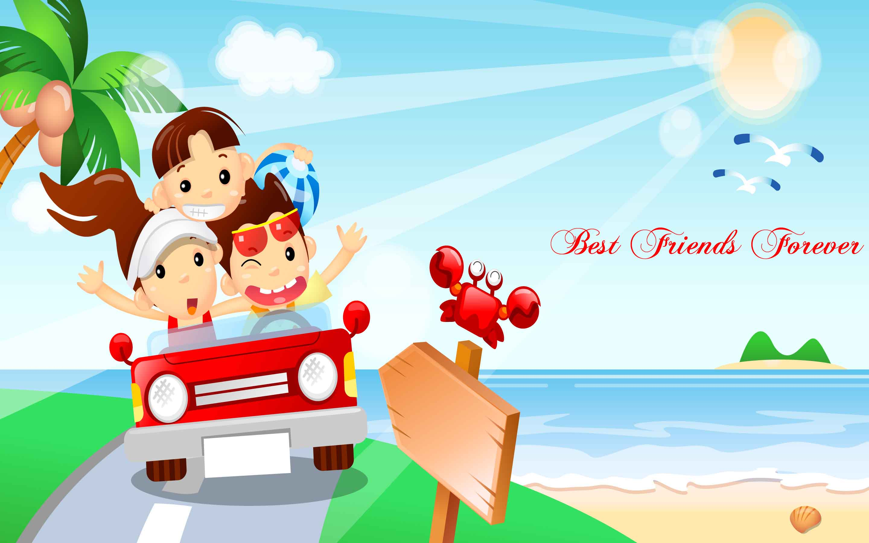 Best Friends Forever Cute HD Wallpaper   StylishHDWallpapers 2880x1800