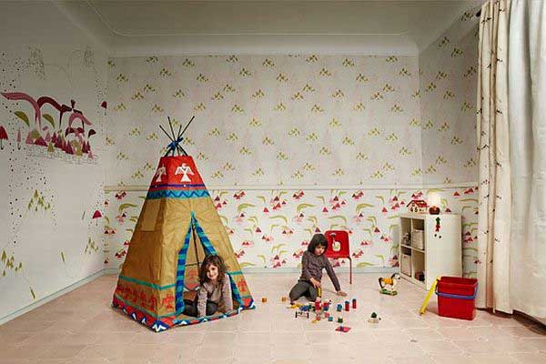 wallpaper for kids room decor by tres tintas barcelona images playroom 600x400