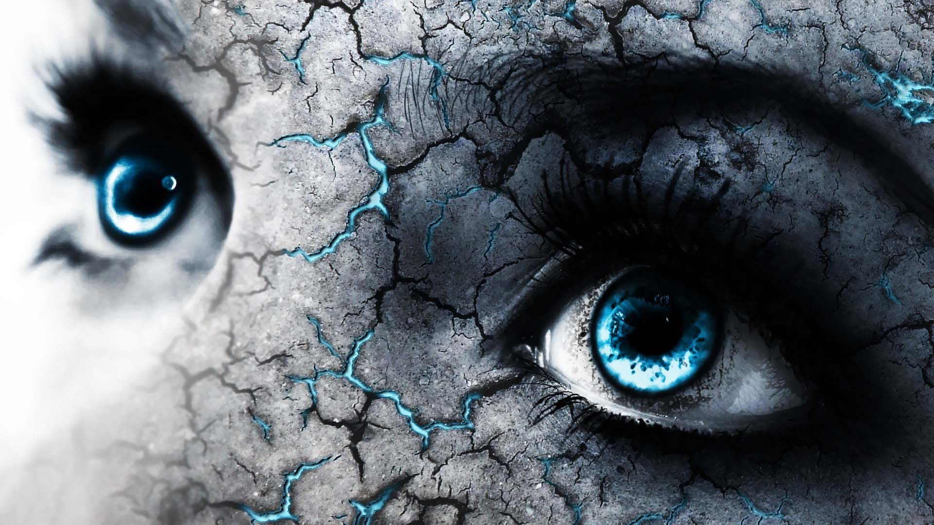 Blue Eyes And Cracked Skin 4k wide ultra hd wallpaper   HD 1920x1080