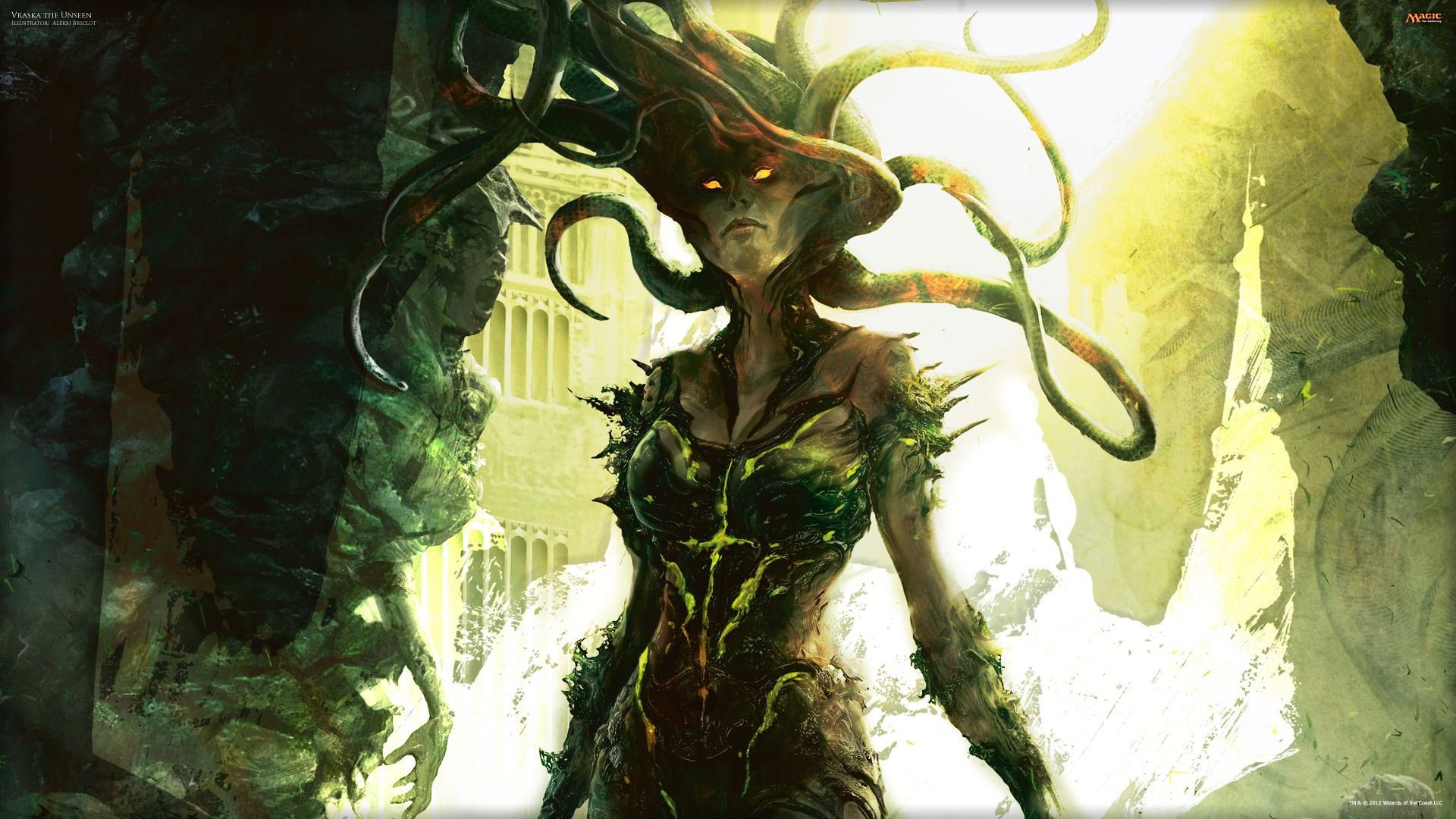 Wallpaper of the Week Vraska the Unseen Daily MTG Magic The 1920x1080