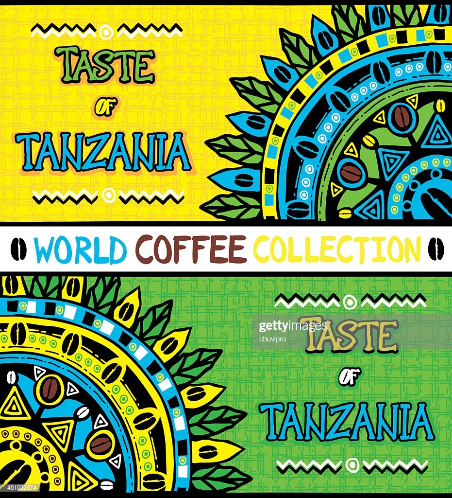 Coffee Background Taste Of Tanzania Hand Drawn Design Elements 931x1024