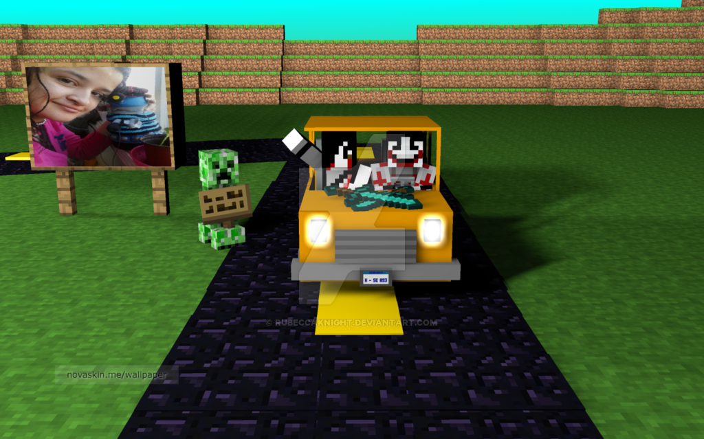 Novaskin minecraft wallpaper Me and Jeff by Rubeccaknight on 1024x639