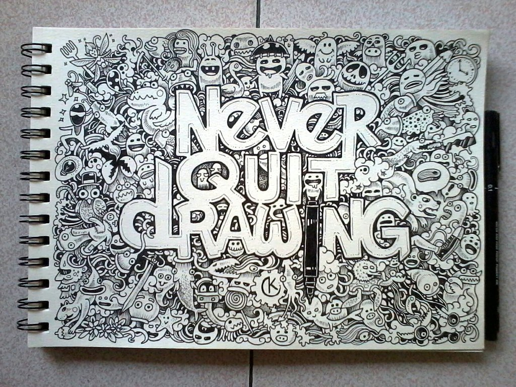 1024x768px Doodle Art Wallpapers - WallpaperSafari