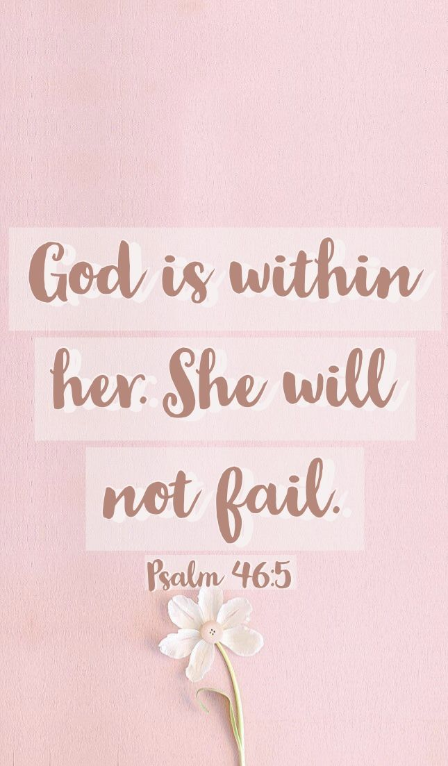 God is within her She will not fail Psalm 465 Christian 645x1103