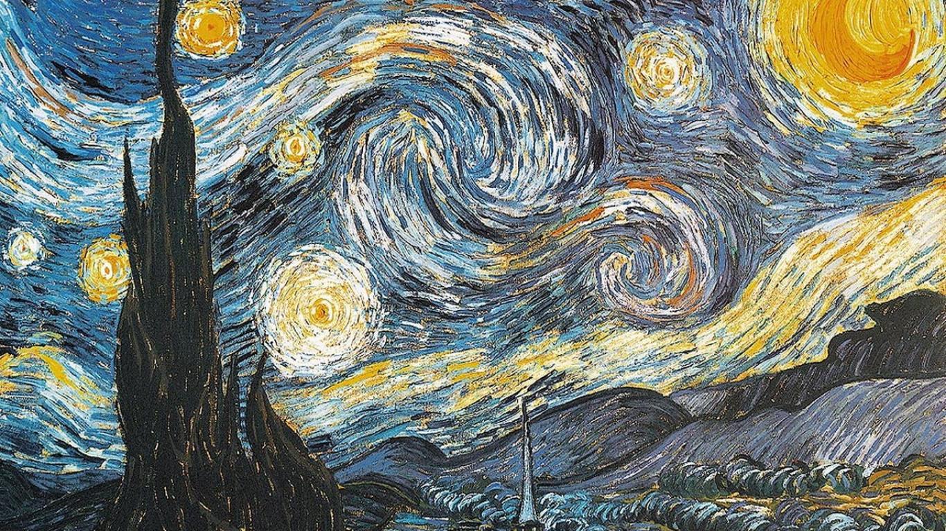 Free Download Van Gogh Starry Night Art Hd Wallpaper Wallpaper