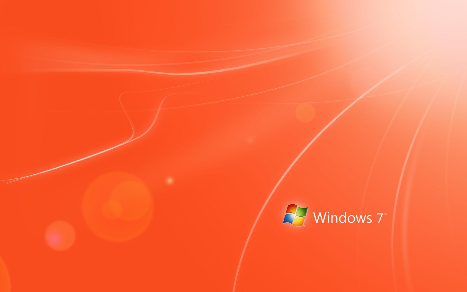 Orange Windows 7 Wallpapers HD Wallpapers 1920x1200