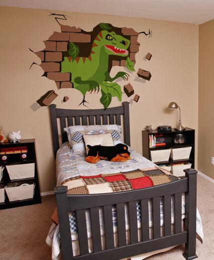 Dinosaur wallpaper for kids room wallpapersafari for Dinosaur decor