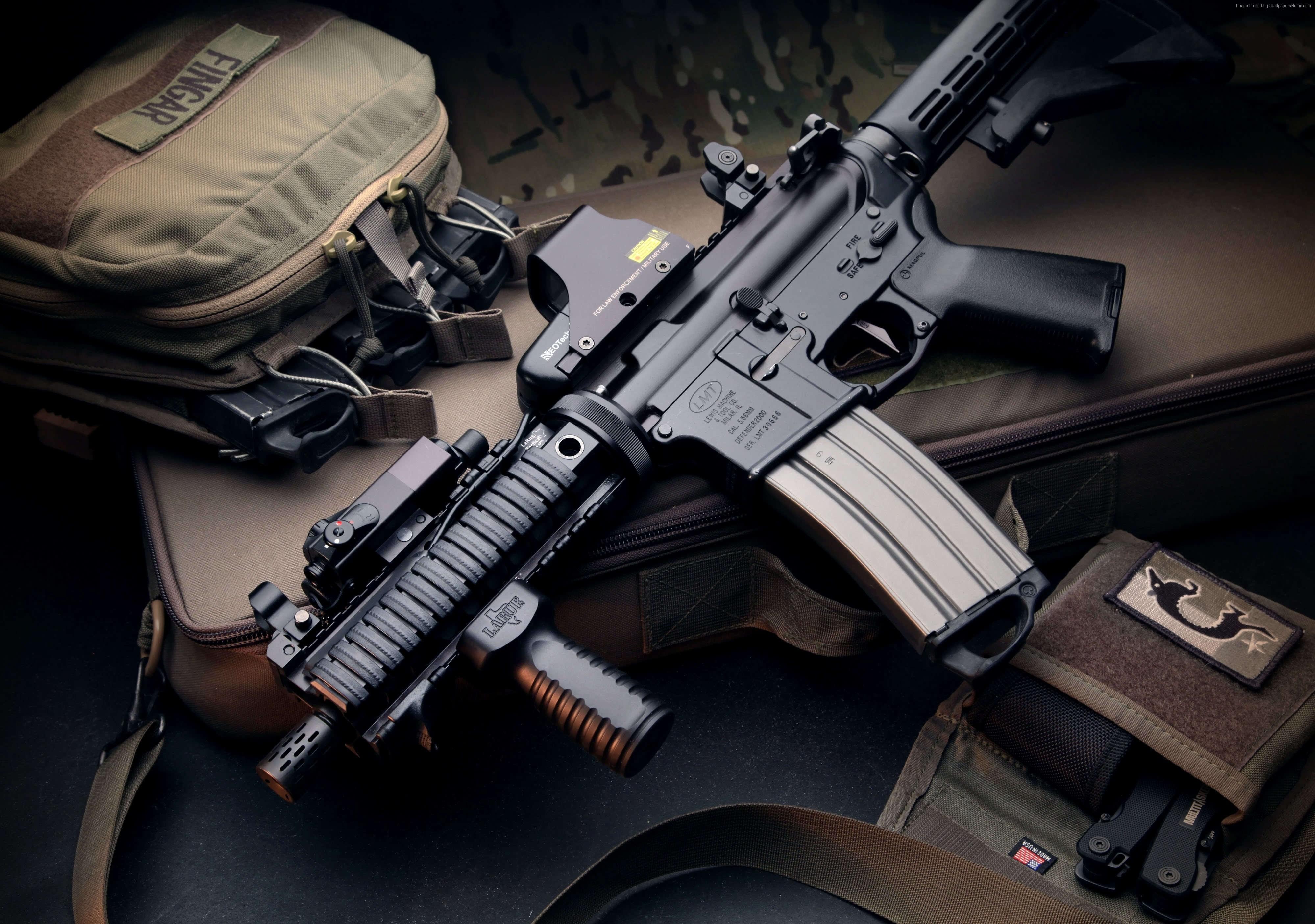 Wallpaper Defender 2000 LMT assault rifle ASG bullets 3999x2810