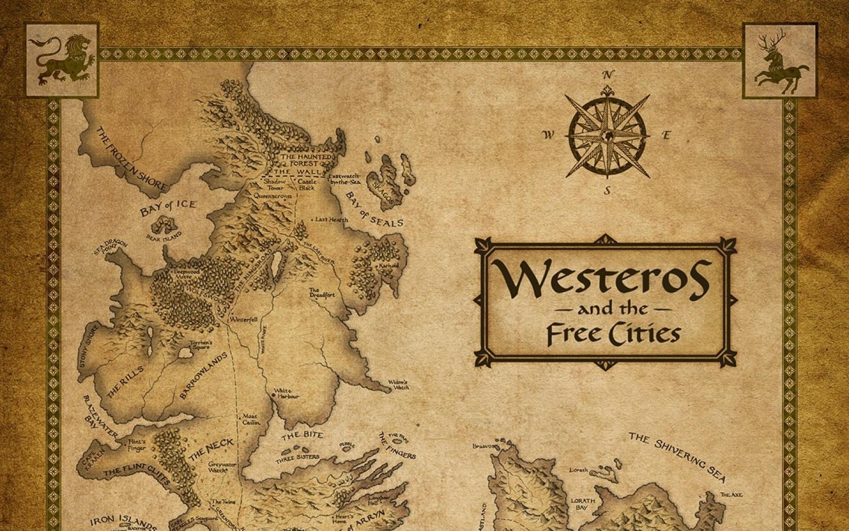 46 Westeros Map Wallpaper On Wallpapersafari