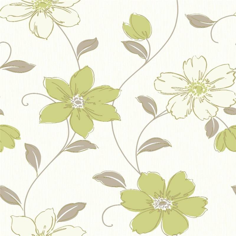 Green Floral Wallpaper Green 800x800
