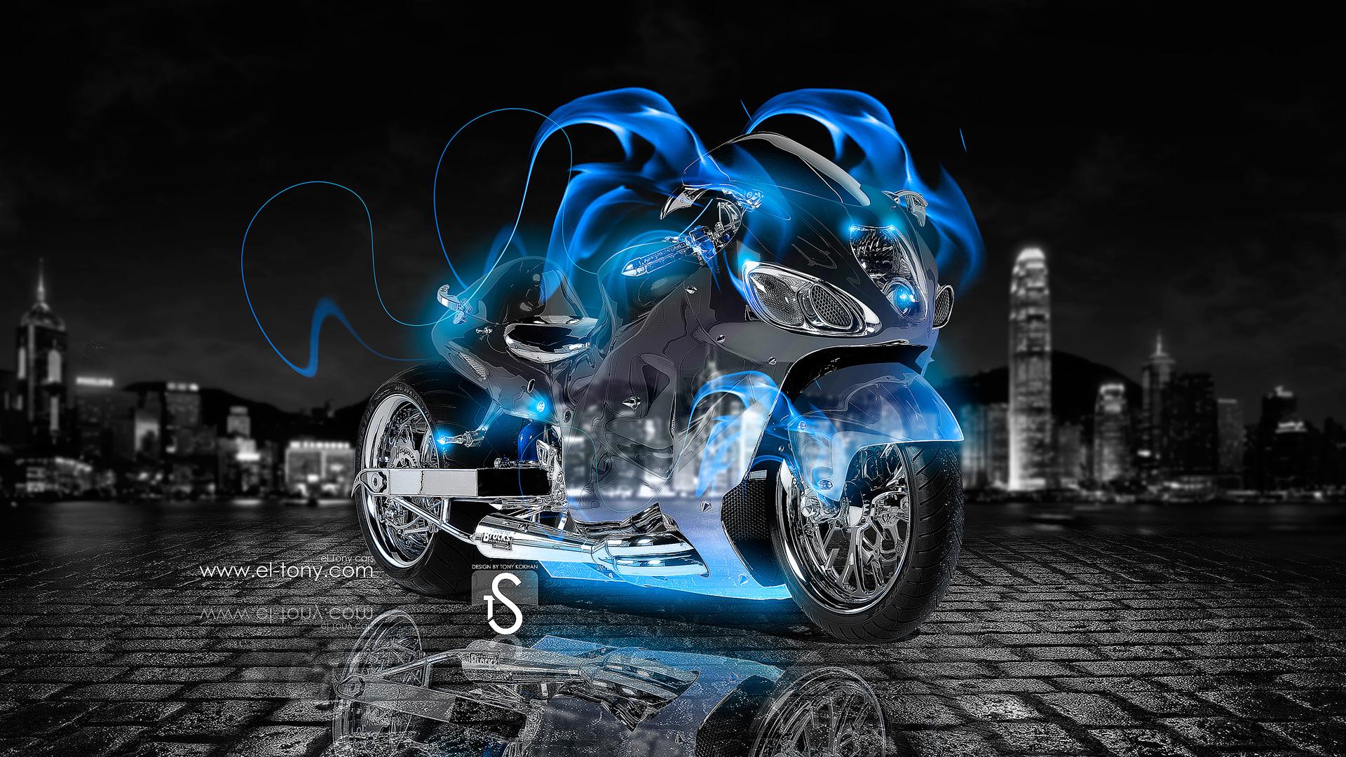 Suzuki в неоновой подсветке  № 3430422 загрузить