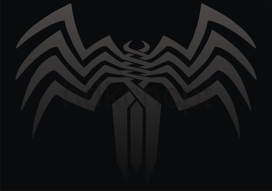Venom Logo Wallpaper Venom logo tribal by hdkcncpt 900x633
