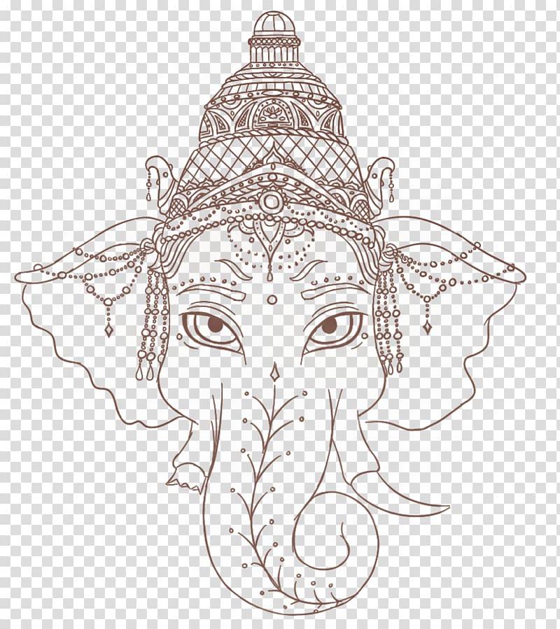 Lord Ganesha Ganesha Tattoo artist ganpati transparent 800x899